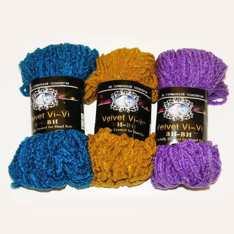 Вязание из пряжи ви-ви